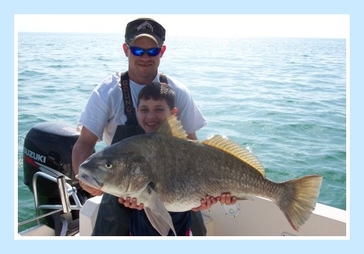 Captain Brad Masters fat cat fishing charters.